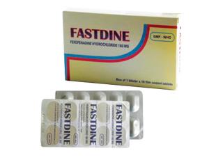 FASTDINE: Điều trị triệu chứng trong viêm mũi dị ứng theo mùa.