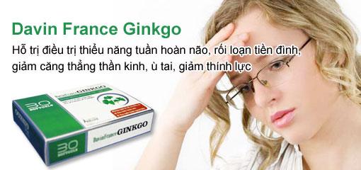 Davin France Ginkgo - thuốc bổ não, chống suy nhược thần kinh